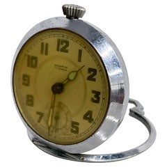 ROSPIN 7 Jewels Swiss Made Pocket Watch Antique Art Deco Travel Clock, 1920s
