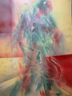 Abstract Contemporary American Original Figurative Watercolor Painting