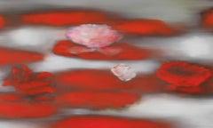 Ross Bleckner, Floating Red