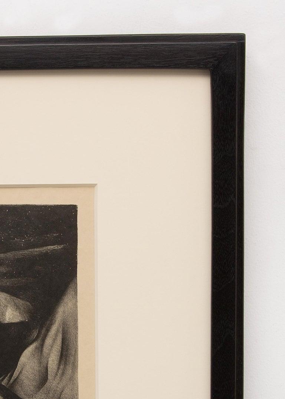 Bad Lands Nocturne- South Dakota Landscape, Modernist Black and White Lithograph For Sale 1