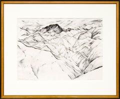 Clear Creek Canyon I (Vintage 1933 Colorado Mountain Landscape, Black & White)