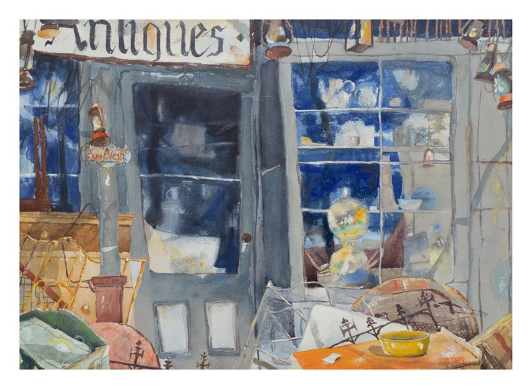 The Antique Store  - Painting by Ross Jones