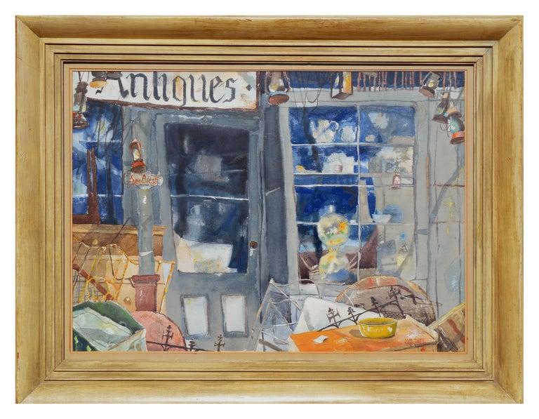 Ross Jones Landscape Painting - The Antique Store