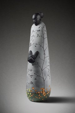 """""""Spring Chill"""", Contemporary, Blown, Hot Worked, Glass, Sculpture, Figurative"""