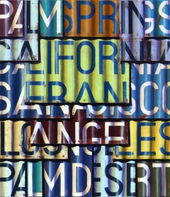 CALIFORNIA - Photorealistic Oil and Enamel Painting on Canvas