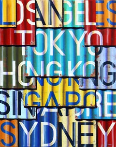 LAX to SYD - Photorealistic Oil and Enamel Painting on Canvas