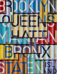 NYC Boroughs - Photorealistic Oil and Enamel Painting on Canvas