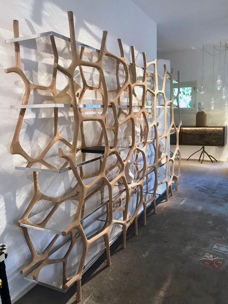 Rossana Orlandi Aqua Shelf A in Mirrored Silver by Francesco Messina for Cypraea For Sale 10