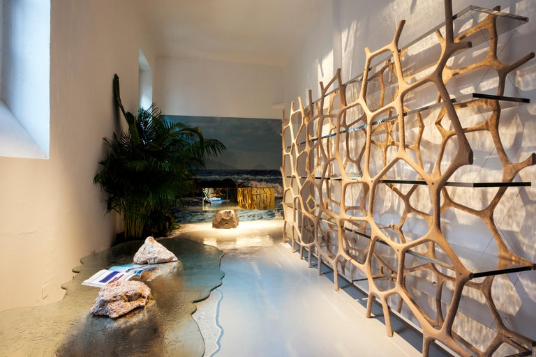 Rossana Orlandi Aqua Shelf A in Mirrored Silver by Francesco Messina for Cypraea In New Condition For Sale In Milan, IT