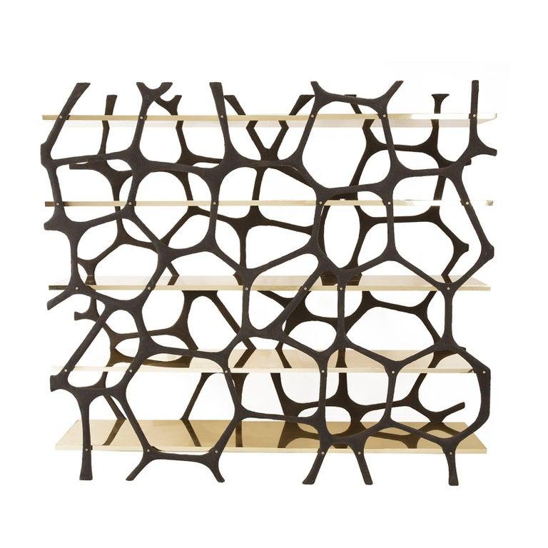 Rossana Orlandi Aqua Shelf C in Mirrored Gold by Francesco Messina for Cypraea For Sale 4