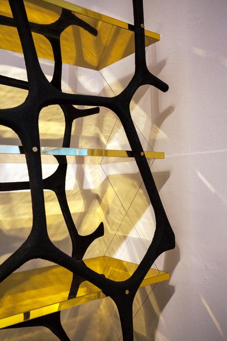 Modern Rossana Orlandi Aqua Shelf C in Mirrored Gold by Francesco Messina for Cypraea For Sale