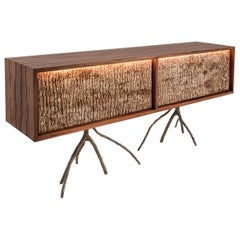 Rossana Orlandi Bark Sideboard in Walnut Bronze by Francesco Messina for Cypraea