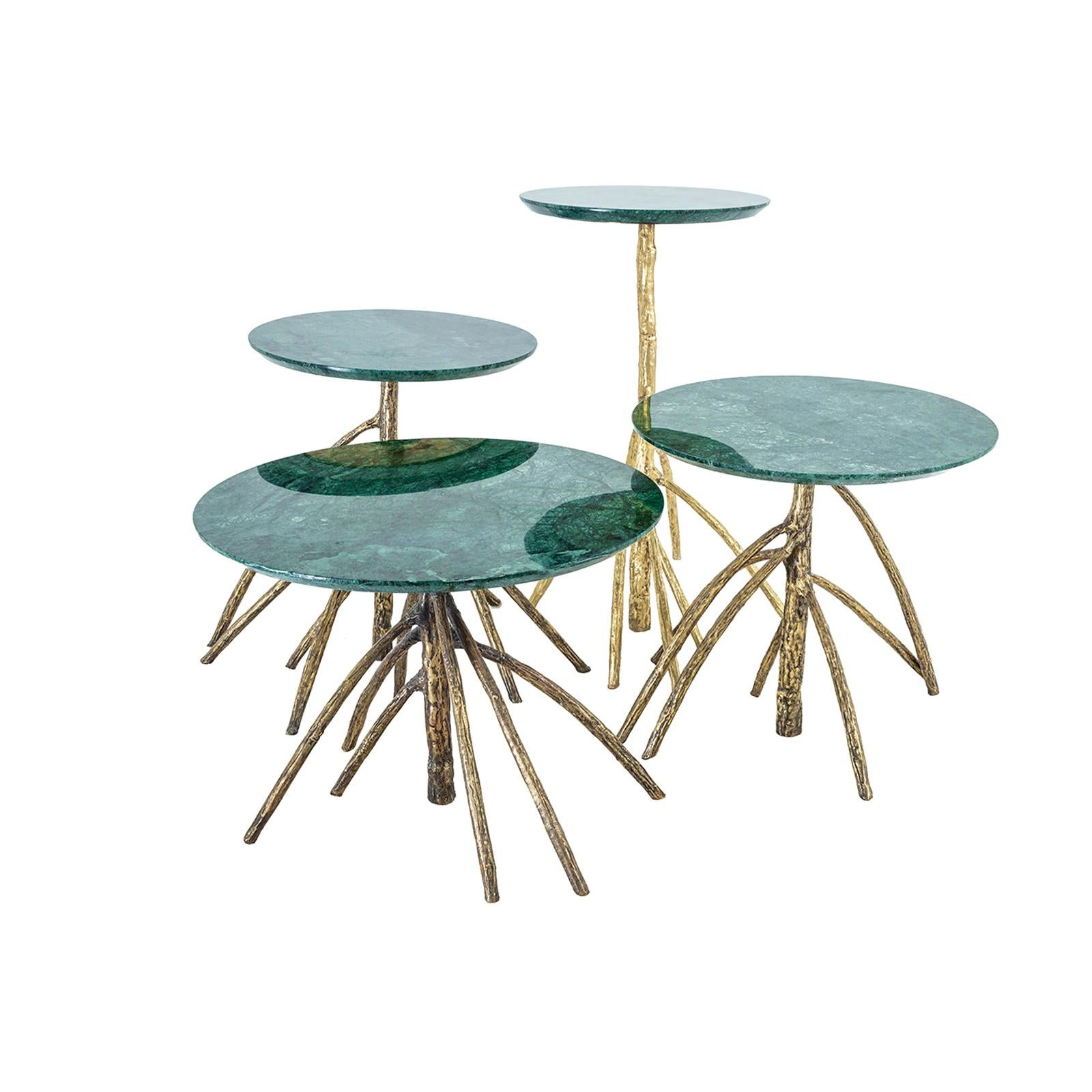 Rossana Orlandi Mangrovia Low Table Set Bronze by Francesco Messina for Cypraea