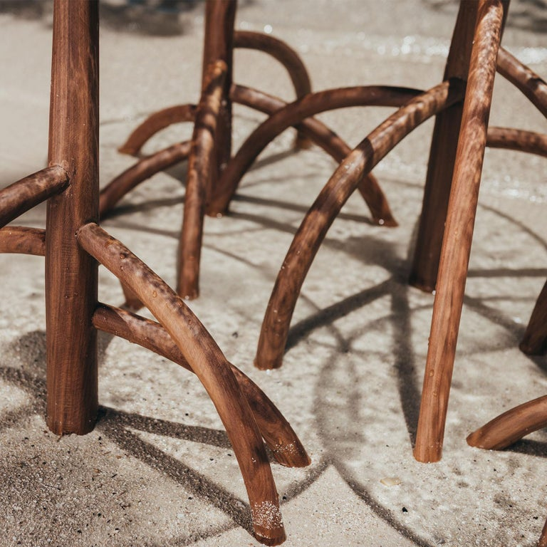 Rossana Orlandi Mangrovia Low Table Set Walnut by Francesco Messina for Cypraea In New Condition For Sale In Milan, IT