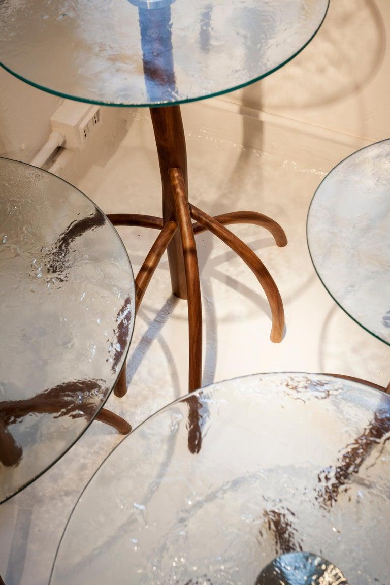 Contemporary Rossana Orlandi Mangrovia Low Table Set Walnut by Francesco Messina for Cypraea For Sale