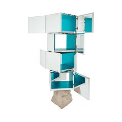 Rossana Orlandi Odyssey 360 Bookshelf in Silver by Francesco Messina for Cypraea