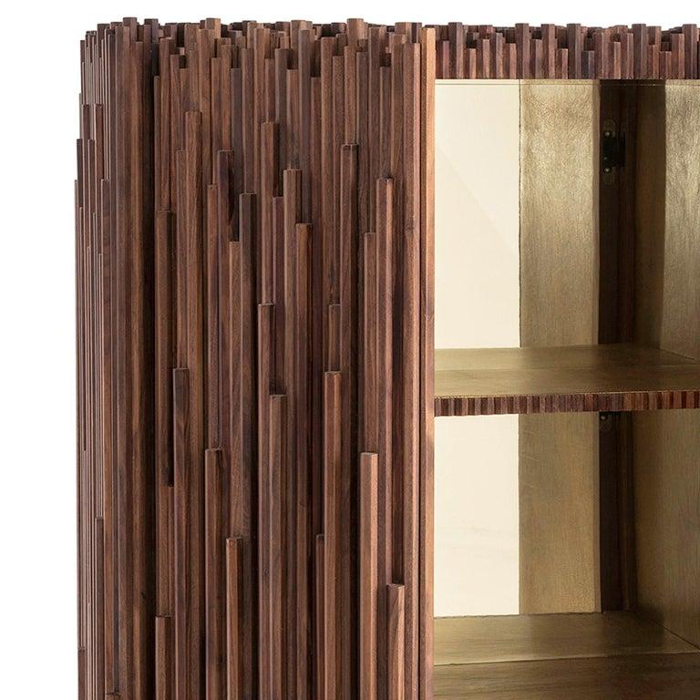 Modern Rossana Orlandi Rochester Cabinet in Walnut by Francesco Messina for Cypraea For Sale