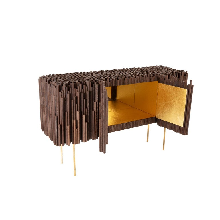 Modern Rossana Orlandi Rochester Sideboard in Wenge by Francesco Messina for Cypraea For Sale