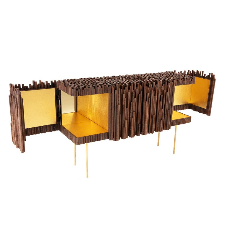 Mauritian Rossana Orlandi Rochester Sideboard in Wenge by Francesco Messina for Cypraea For Sale