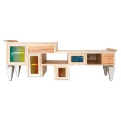 Sand Senses Cupboard in Wood by Hillsideout