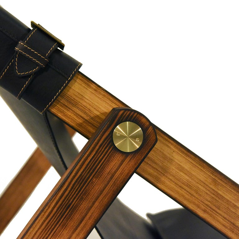 Leather Rossana Orlandi Sdraia Larch Chair by Matteo Casalegno For Sale