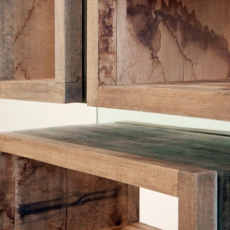 Modern Rossana Orlandi Volumi Sospesi L Bookcase in Wood and Glass by Matteo Casalegno For Sale