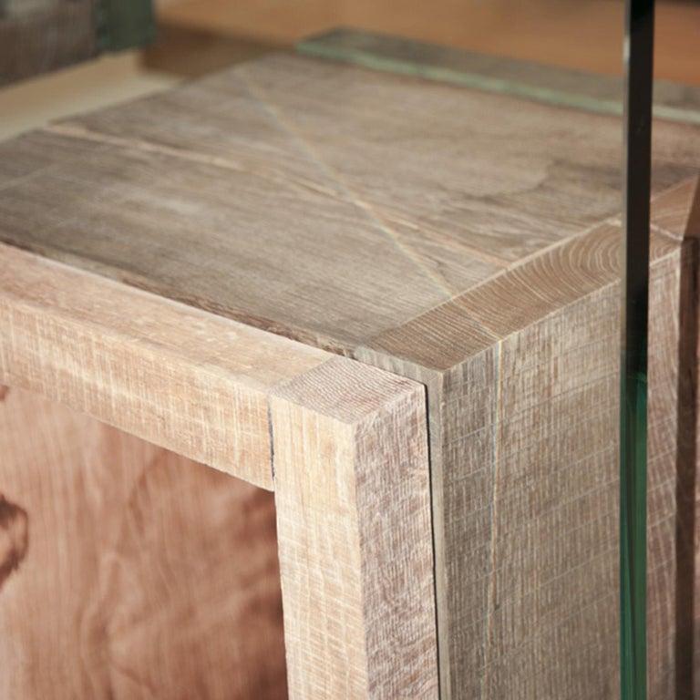 Italian Rossana Orlandi Volumi Sospesi L Bookcase in Wood and Glass by Matteo Casalegno For Sale