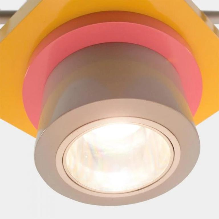 Modern Rossella Metal Ceiling Lamp EU 220 Volts, by Marco Zanini from Memphis Milano For Sale