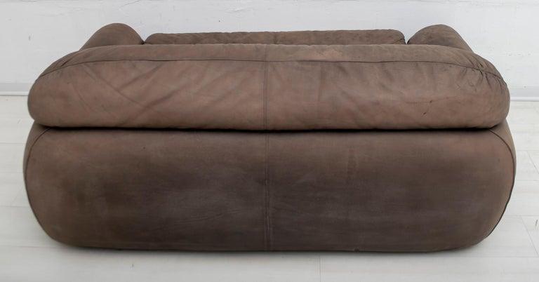 Rossi di Albizzate Modern Italian Elephant Skin Sofa, 1989 For Sale 6