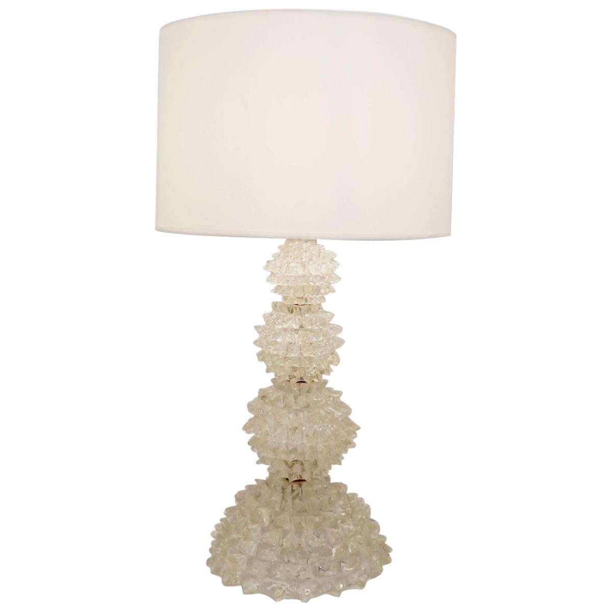 Rostrato Glass Table Lamp from Barovier & Toso, 1940s