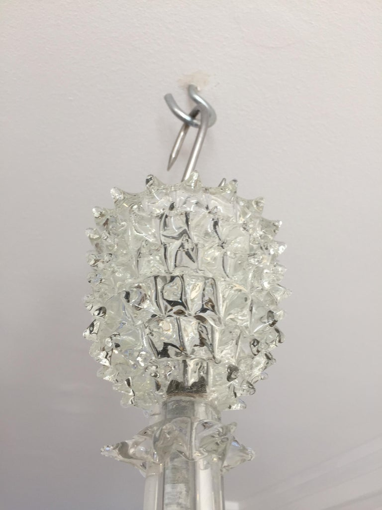 'Rostrato' Hand Blown Glass Ceiling Pendant by Ercole Barovier, circa 1940 For Sale 4