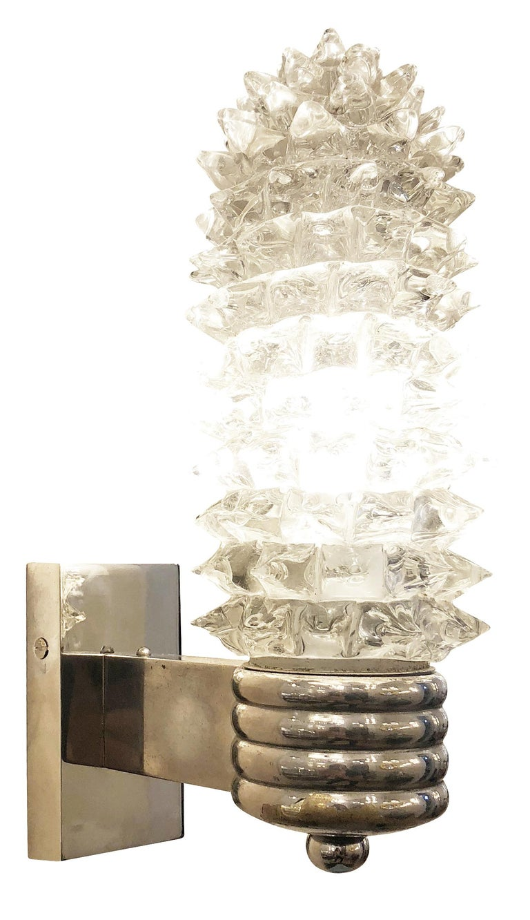 Italian Rostrato Sconces by Ercole Barovier, Italy, 1950s