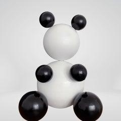 Panda 3 of 100, Steel Bear Animal Abstract Sculpture