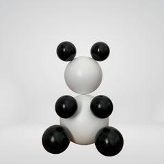 Panda Small Steel Bear Animal Abstract Sculpture