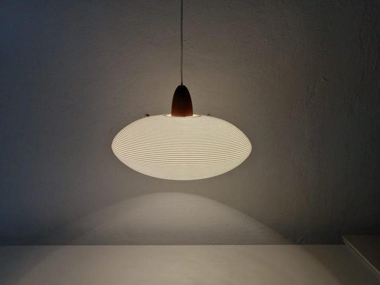 German Mid-Century Modern Rotaflex Pendant Lamp by Yasha Heifetz, 1960s For Sale