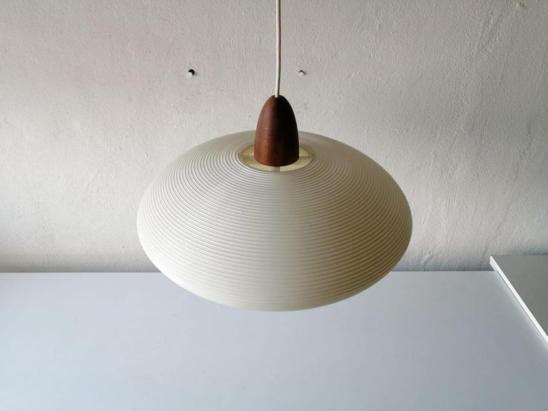 Mid-Century Modern Rotaflex Pendant Lamp by Yasha Heifetz, 1960s In Good Condition For Sale In Hagenbach, DE