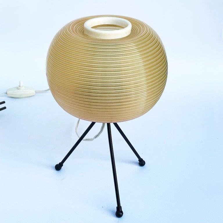 Mid-Century Modern Rotaflex Table Lamp, Disderot ARP Guariche Mortar Motte Design 1950s Table Lamp For Sale