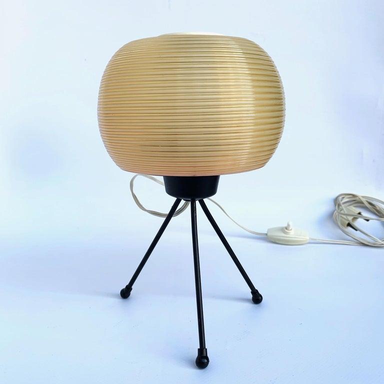 Lacquered Rotaflex Table Lamp, Disderot ARP Guariche Mortar Motte Design 1950s Table Lamp For Sale