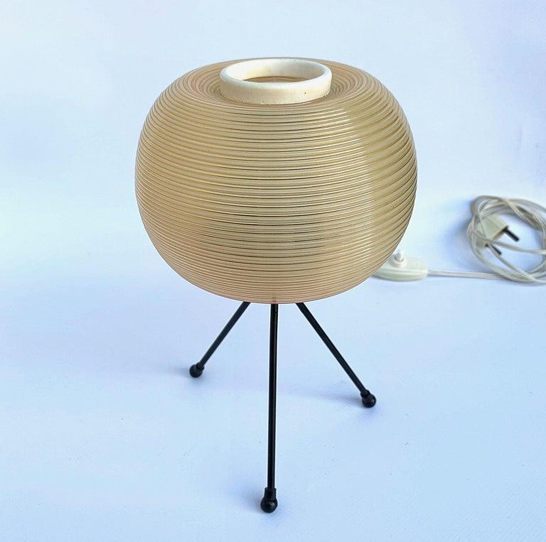 Mid-20th Century Rotaflex Table Lamp, Disderot ARP Guariche Mortar Motte Design 1950s Table Lamp For Sale