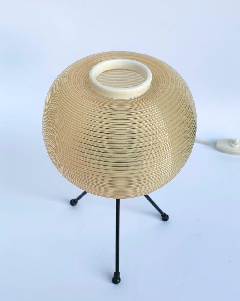 Metal Rotaflex Table Lamp, Disderot ARP Guariche Mortar Motte Design 1950s Table Lamp For Sale