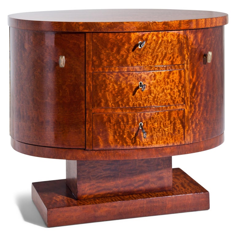 French Rotating Art Deco Nightstand, France c. 1925 For Sale