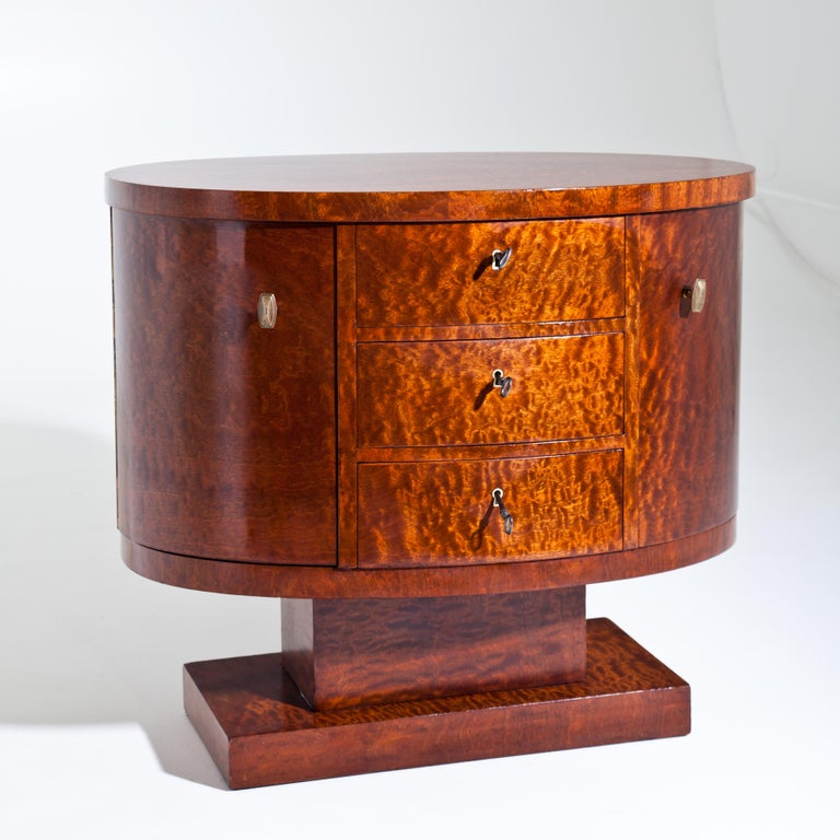 Rotating Art Deco Nightstand, France c. 1925 In Good Condition For Sale In Greding, DE