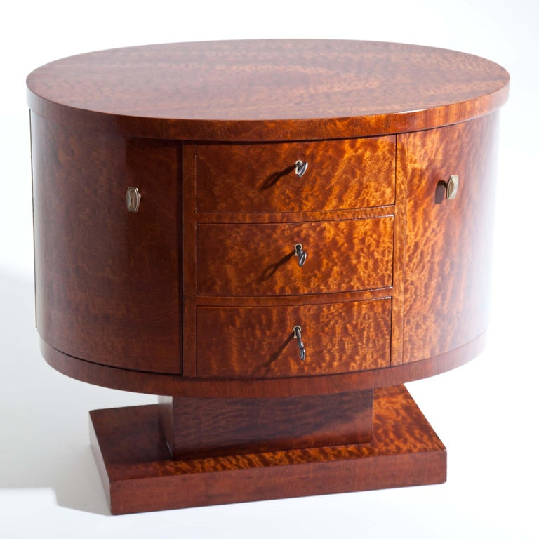 Early 20th Century Rotating Art Deco Nightstand, France c. 1925 For Sale