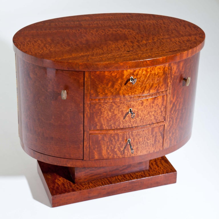 Wood Rotating Art Deco Nightstand, France c. 1925 For Sale