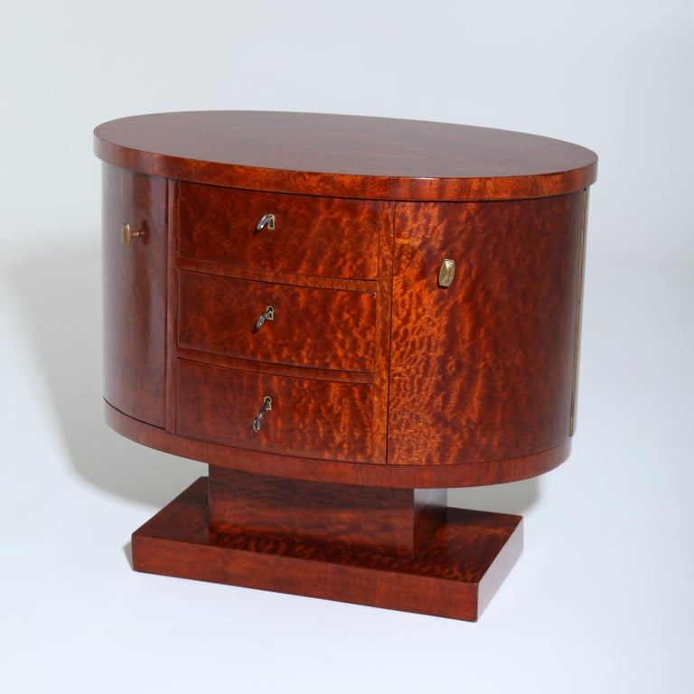 Rotating Art Deco Nightstand, France c. 1925 For Sale 1