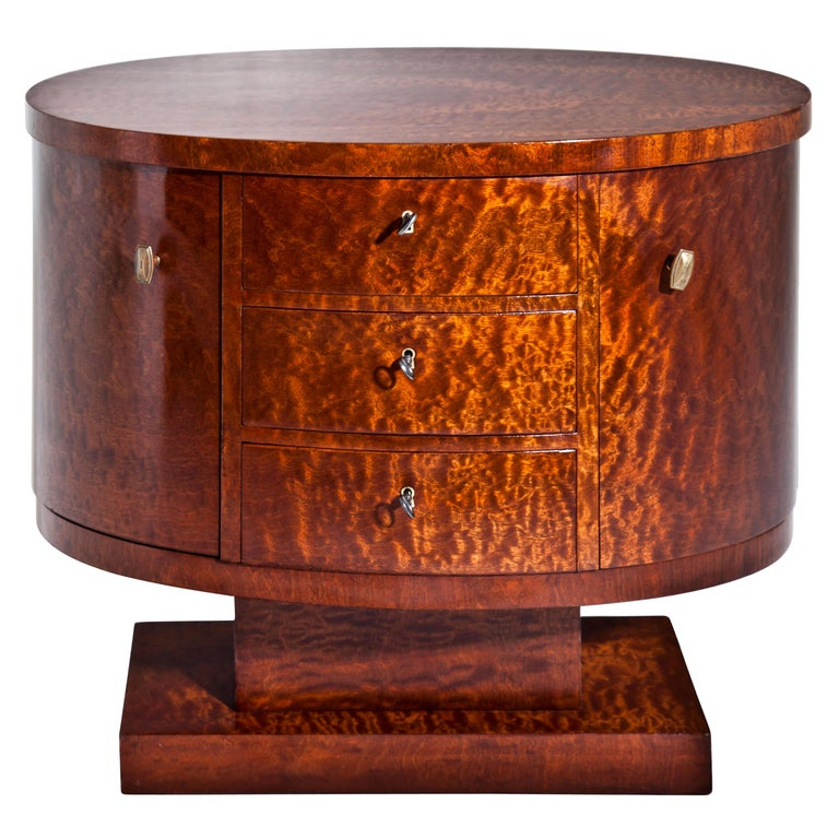 Rotating Art Deco Nightstand, France c. 1925 For Sale