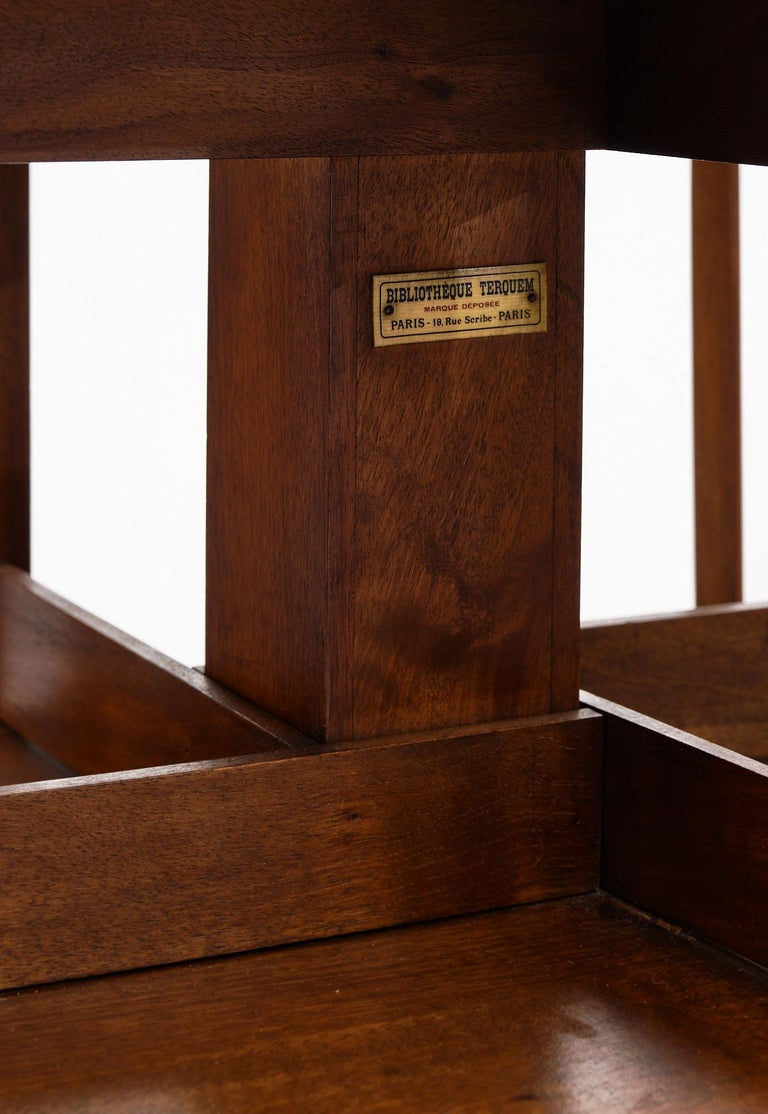 Mid-Century Modern Rotating Mid-Century Bookcase For Sale