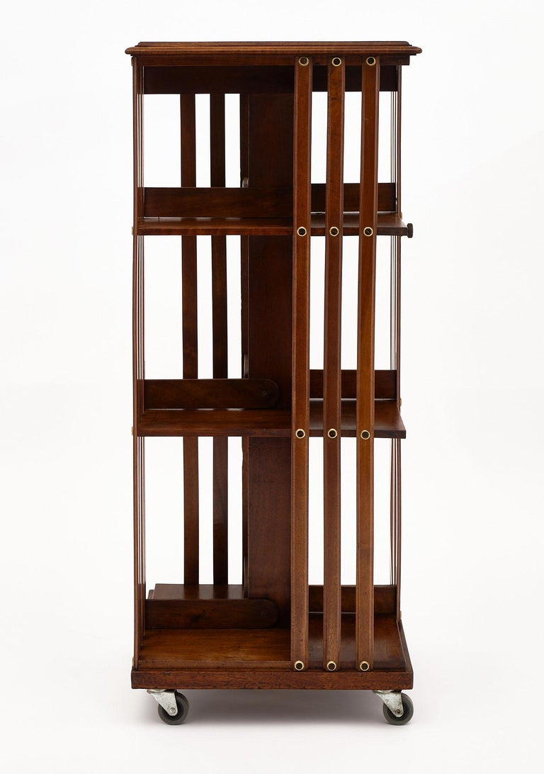 Mid-20th Century Rotating Mid-Century Bookcase For Sale