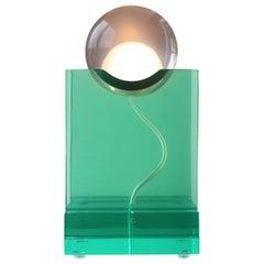 Rotonda Table Lamp in Green Crystal Resin by Adrian Cruz Elements