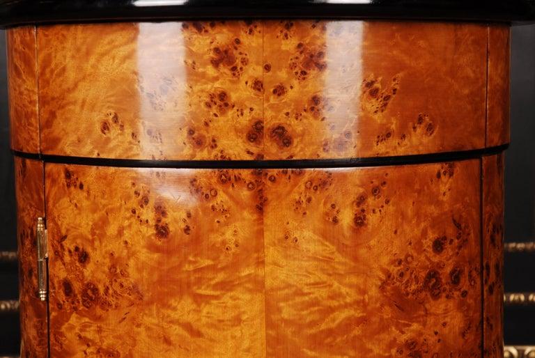 Veneer Rotunda Cupboard in Biedermeier Style For Sale